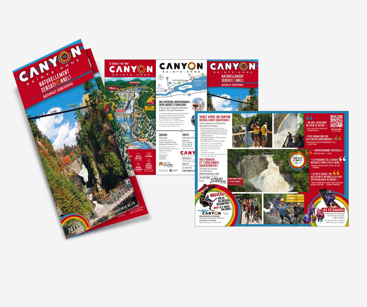 Canyon Sainte-Anne - Dépliant promotionnel