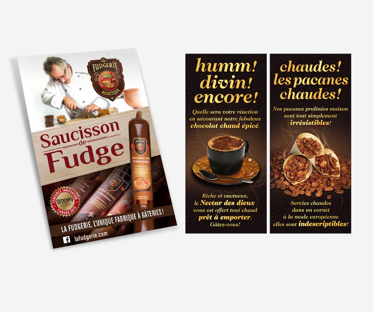 La Fudgerie - Publicités sur les lieux de vente