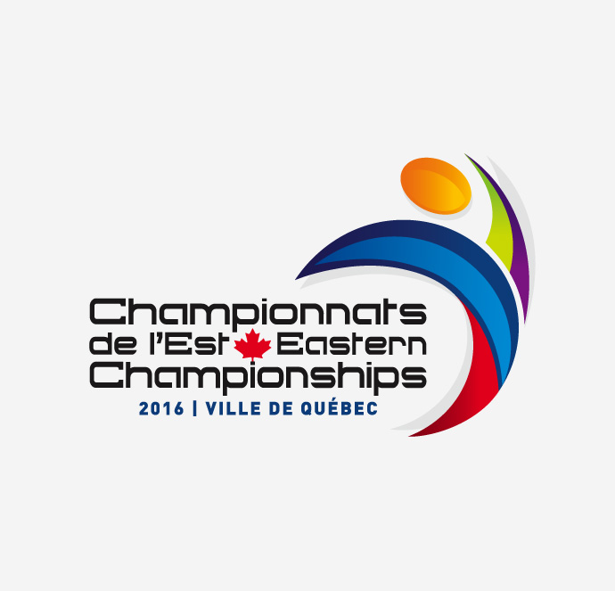 Club de gymnastique Québec Performance - Logo Championnats de l'Est 2016