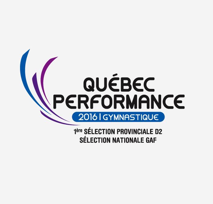Club de gymnastique Québec Performance - Logo Québec 2016
