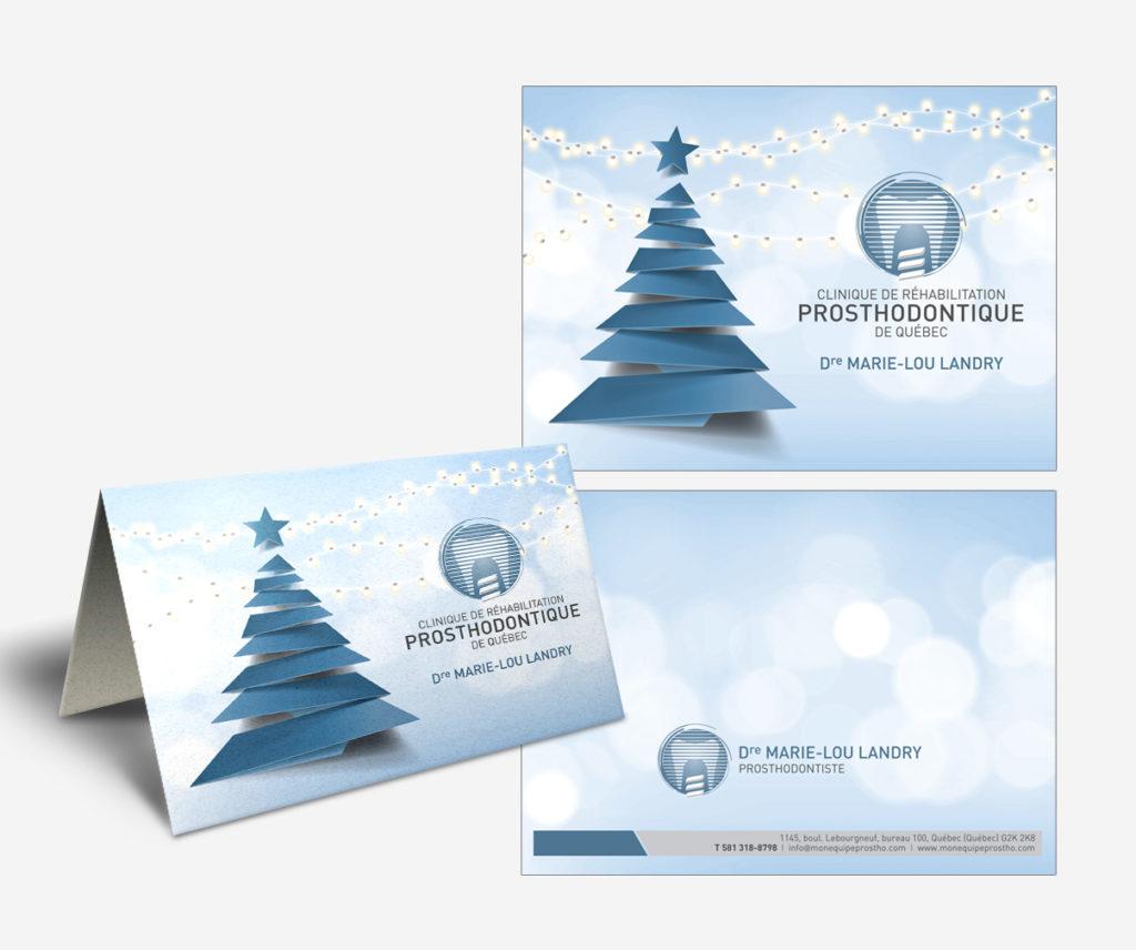 Clinique prosthodontique de Québec - Carte de Noël
