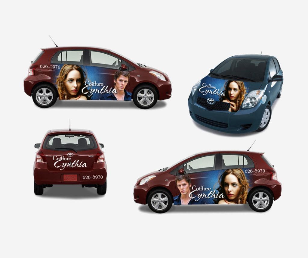 Coiffure Cynthia - Design et lettrage voiture