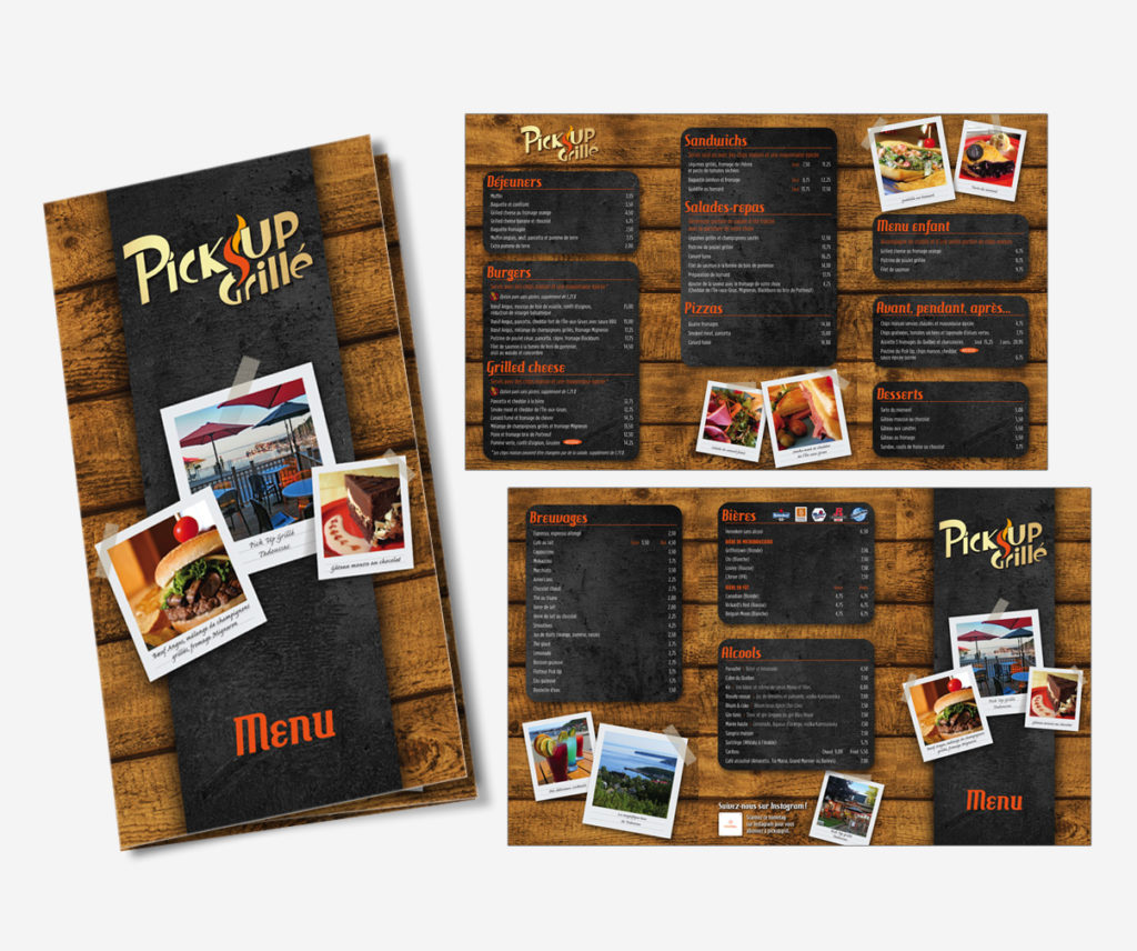 Pick-up Grillé - Menu