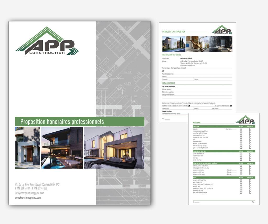 Construction APP - Devis programmé pour soumission