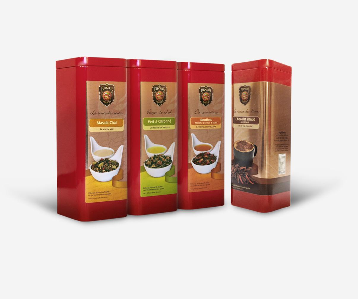 La Fudgerie - Étiquettes pour boites à thés
