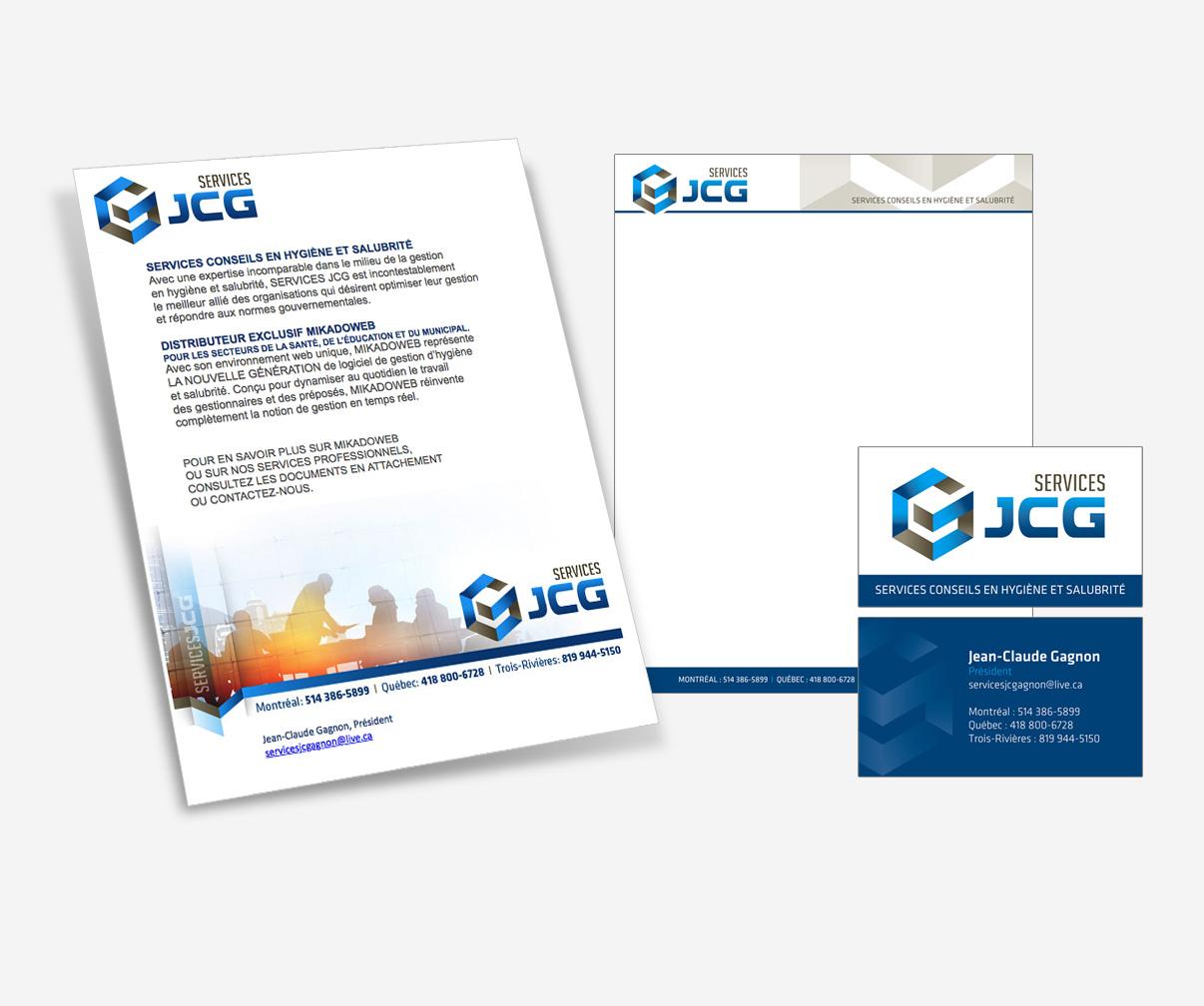 Services JCG - Envoi courriel et papeterie