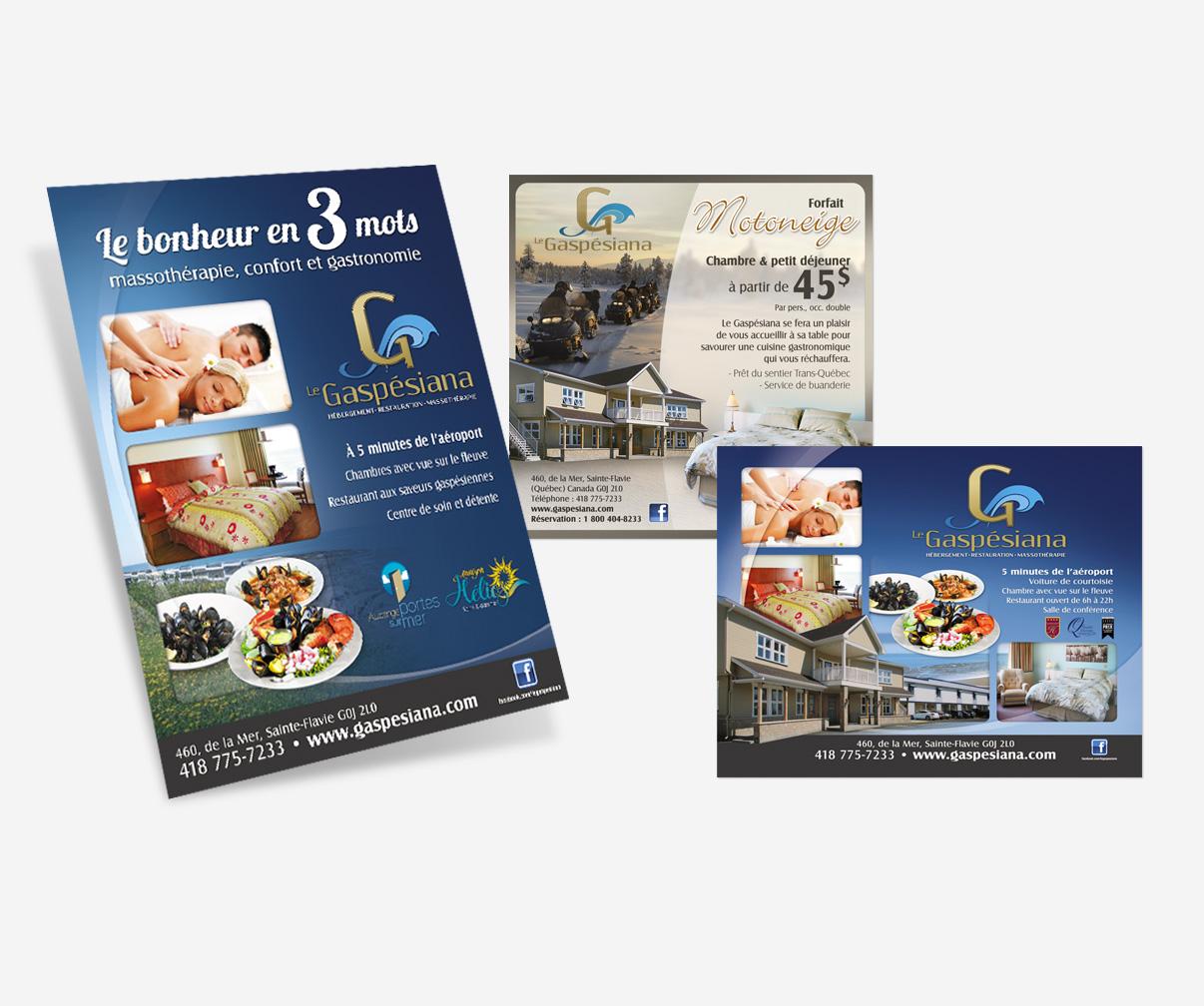 Motel Gaspésiana - Publicités guides touristiques