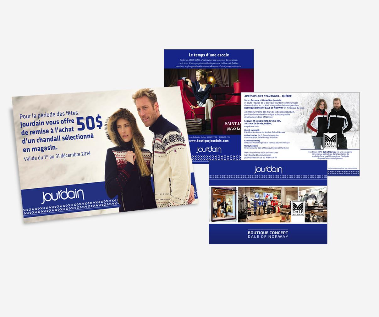 Boutique Jourdain - Publicités diverses