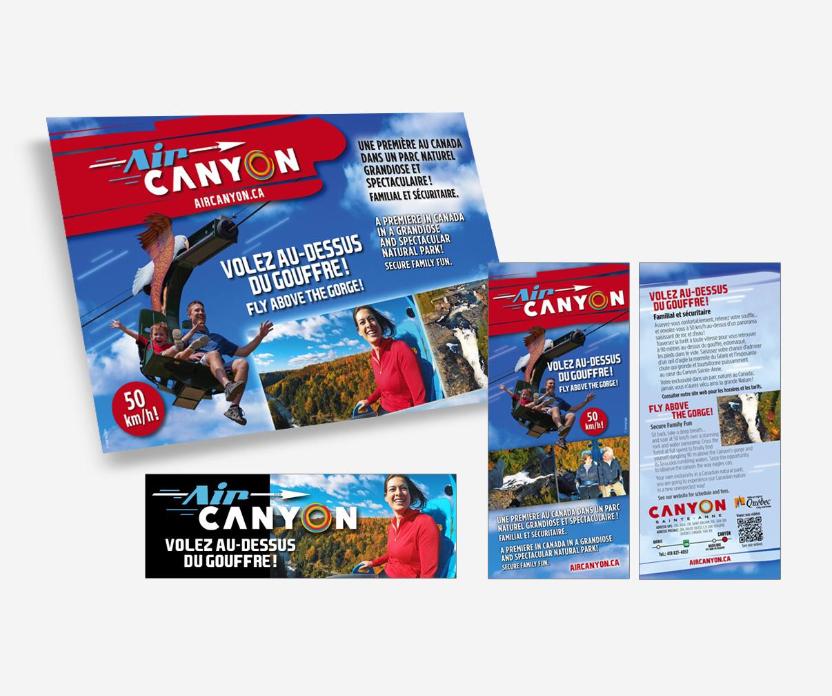 Canyon Sainte-Anne - Publicités Air Canyon