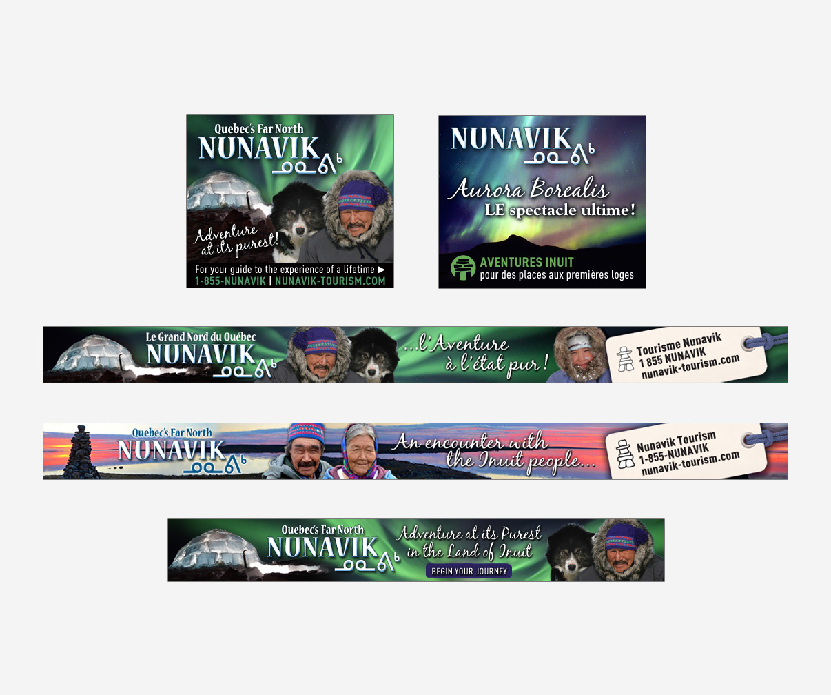 Association touristique du Nunavik - Publicités & bannières Web