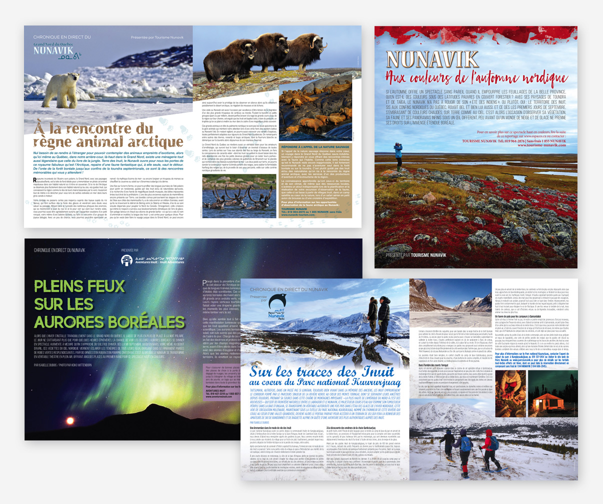 Association touristique du Nunavik - Publireportages
