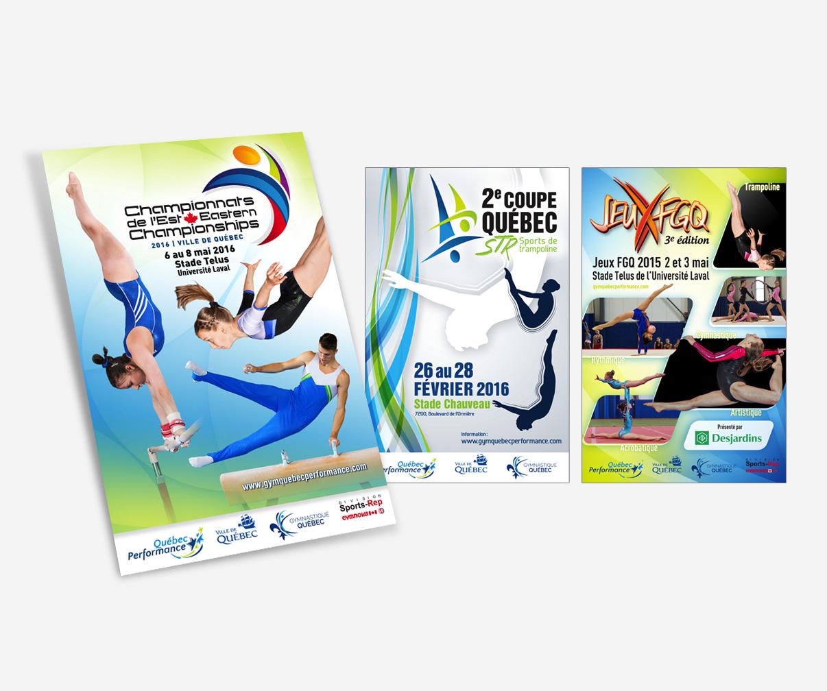 Club de gymnastique Québec Performance - Affiches événements